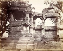 General view of old Trinetra Temple, Than